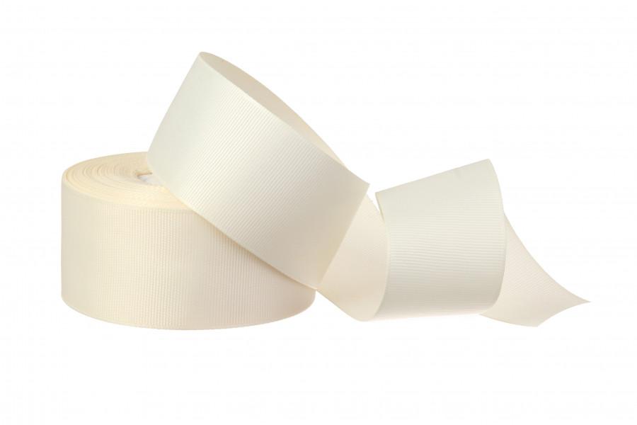 Лента репсовая 4 см телесная, (топленое молоко) бобина 18 м - 51 грн