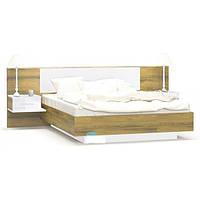 Кровать двуспальная в спальню из ДСП Фиеста Мебель Сервис с ламелями