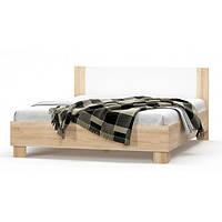 Кровать двуспальная в спальню из ДСП 160 Маркос Мебель Сервис с ламелями