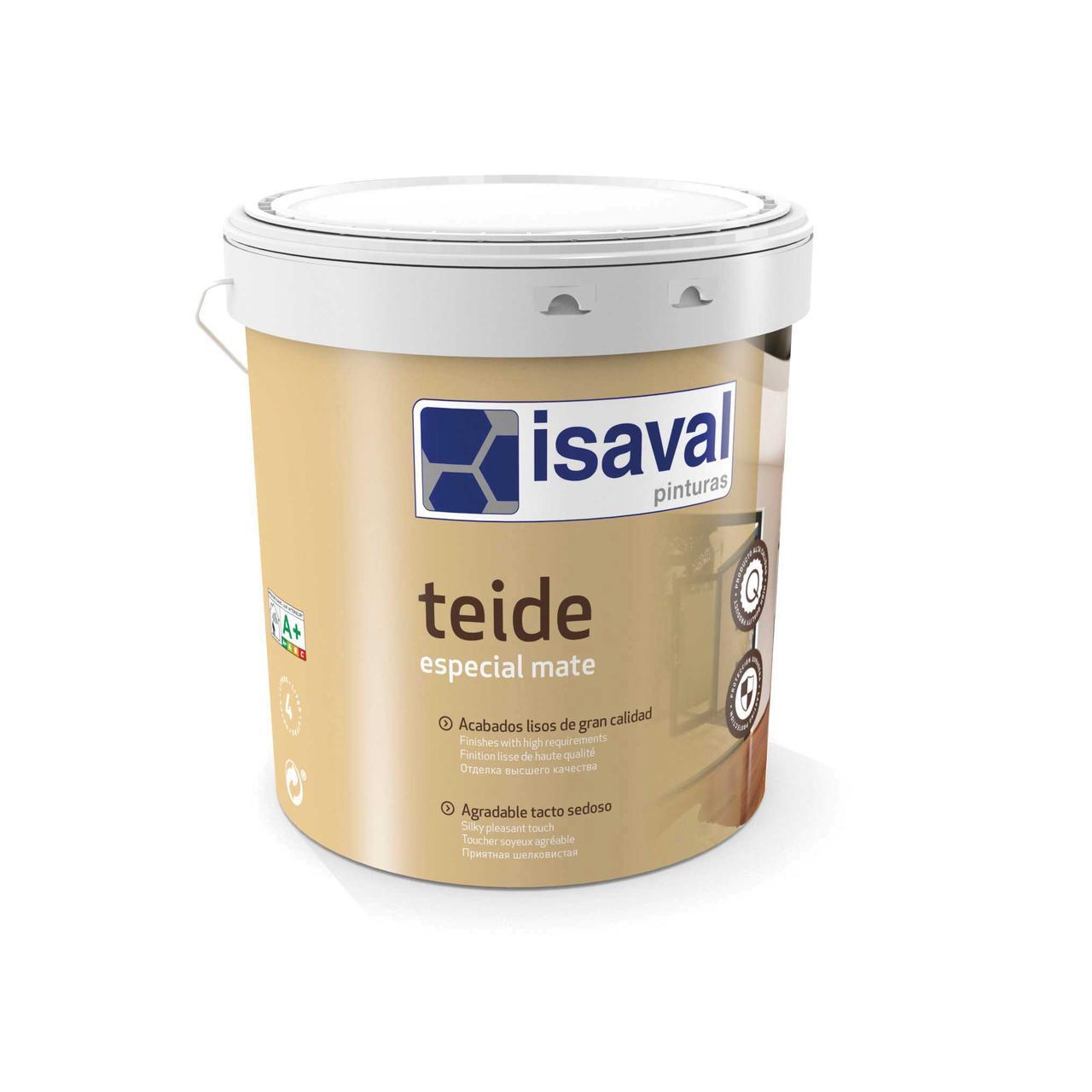 Фарба матова миюча для стін і стель ТЕЙДЕ ISAVAL 4л до 56м2/шар