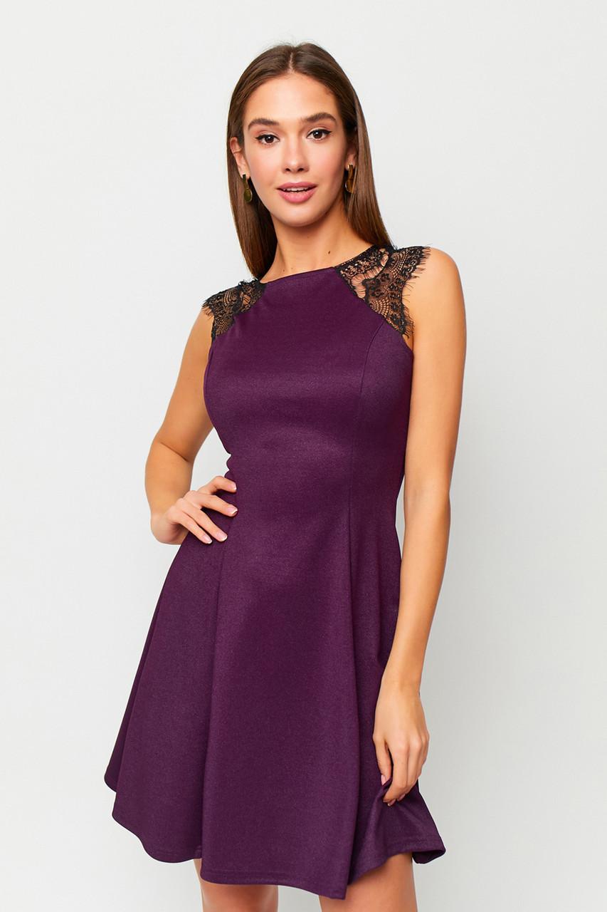 S, M, L   Коктейльне жіноче плаття Brut, фіолетовий