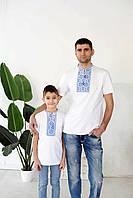 Парні вишиті футболки, чоловіча та дитяча вишита футболка
