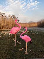 Садовая фигура Фламинго комплект №2. декоративная  садовая фигура.