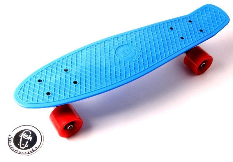 Скейтборд, Пенни борд Penny Board Fish Синий до 85кг (SD)