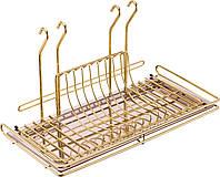 Сушка для посуды Lemi Италия подвесная золото (31956)