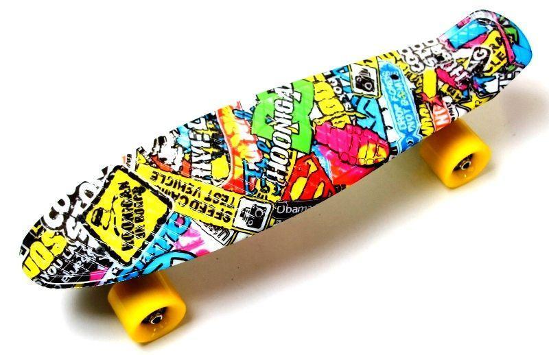 Скейтборд, Пенни борд Penny Board Graffiti Inscription до 80кг (SD)
