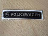 Наклейка s надпись Volkswagen 100х20х1мм силиконовая Уценка на авто эмблема логотип Волксваген, фото 3