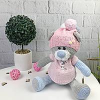 Детская мягкая игрушка вязаная «Медвежонок», фото 1