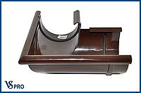 Угол желоба внешний, 90 градусов(поворот желоба), водосточная система BRYZA 125 мм Цвет RAL 8017 коричневый.