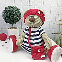 Вязаная детская игрушка ручной работы «Медведица», фото 1