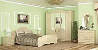Спальня комплект Барокко из ДСП и МДФ Берёза Мебель Сервис 2