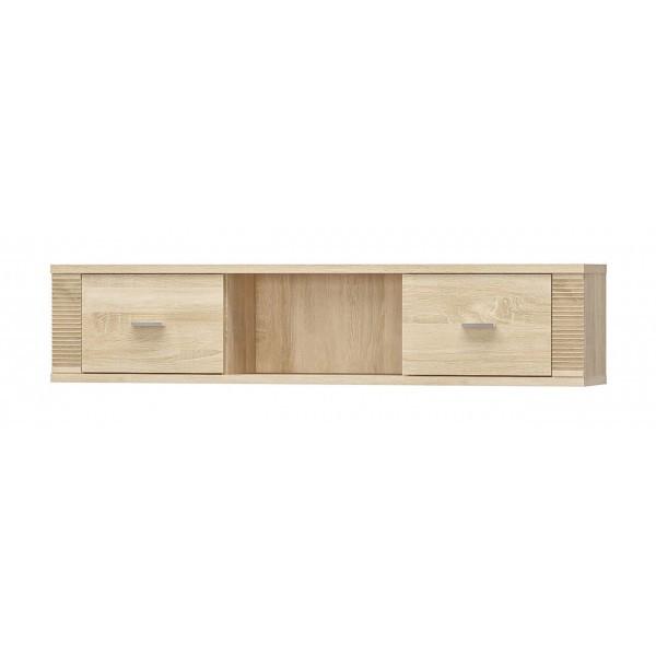 Полка навесная в гостиную/спальню из ДСП 2Д Гресс Мебель Сервис