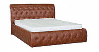 Кровать двуспальная с подъемным механизмом в гостиную/спальню из ДСП/Натуральное дерево Ткань Мадрас Коричневый Лагуна Мебель Сервис