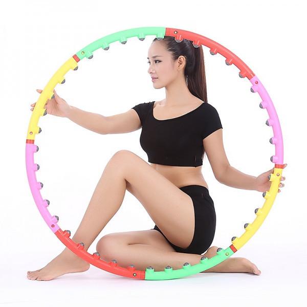 Массажный обруч Хула-Хуп (двойной шарик), Массажный обруч для похудения талии, Обруч массажный спортивный