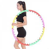 Массажный обруч Хула-Хуп (двойной шарик), Массажный обруч для похудения талии, Обруч массажный спортивный, фото 5