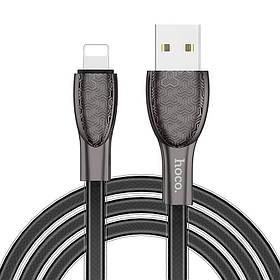 Зарядный кабель Data Cable Hoco U52 Lightning Bright Черный