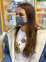 Защитная маска для лица, маски трехслойные от вируса из Хлопка