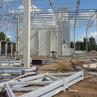 Монтаж металлоконструкций при строительстве ангара, склада.