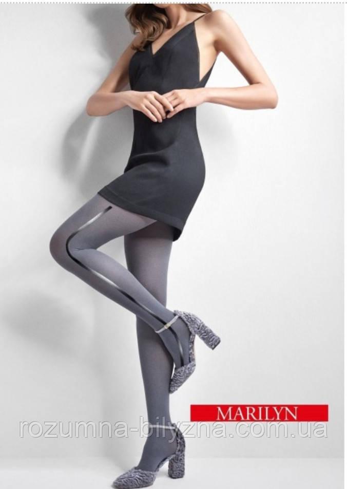 Колготи з боковою смужкою TM Marilyn розмір 3/4 Black /Black