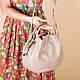 Кожаная бежевая женская сумка с двумя ручками, цвет любой на выбор, фото 3