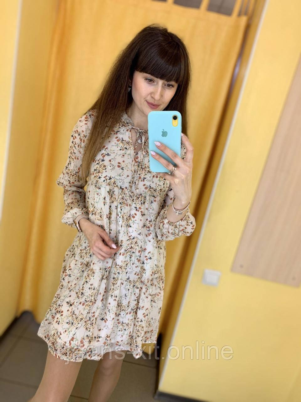 Платье женское 36(р) бежевое 9715 Турция Весна-C