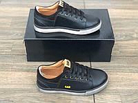 Кожаные мужские кроссовки весна-осень 18139 размеры 32-40, фото 1