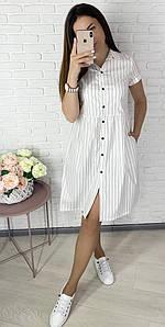 """Свободное платье-халат на кнопках """"Greta"""" с коротким рукавом (3 цвета)"""