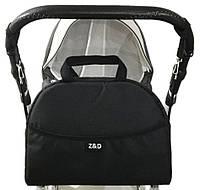 Сумка органайзер Z&D для коляски черная с крючками в комплекте на любую коляску (Zdrowe Dziecko, Польша) о