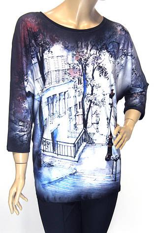 Модна жіноча кофта вільного крою з принтом, фото 2