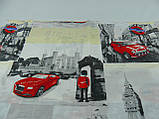 """Постельный комплект """"Лондон Ретро"""", двуспальный евро , наволочки 50*70, бязь, фото 3"""