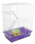 Клетка для мелких декоративных грызунов Нюра с домиком 44*27*59, белая