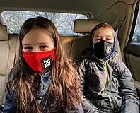 Маска защитная на лицо многоразового пользования защитная маска трикотаж +медицинская прослойка