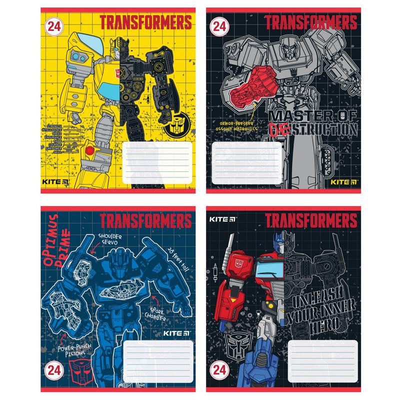 Тетрадь школьная Kite Transformers TF20-234, 12 листов, в линию