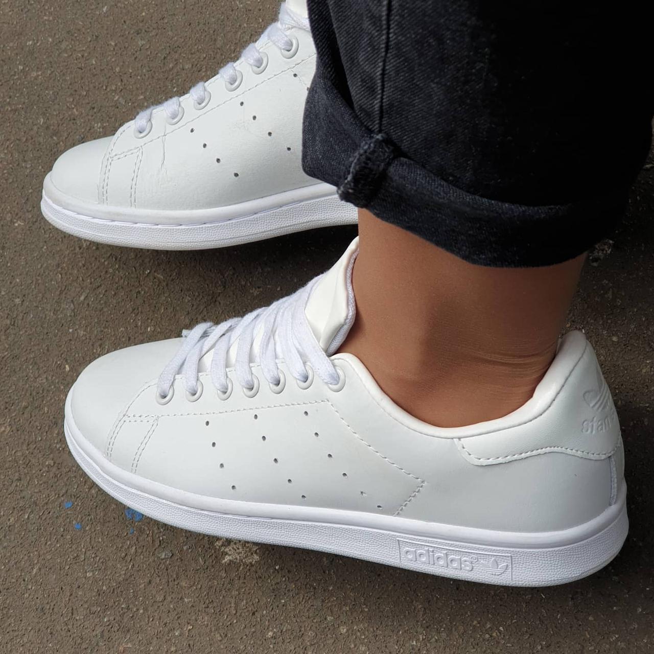 Жіночі кросівки Adidas Stan Smith White білі
