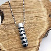 Кулон с подвижной внутренней частью нержавеющая сталь Жезл удачи 35 мм 175587