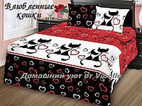 """Комплект постельного белья """"Влюбленные кошки"""" Бязь,100% хлопок"""