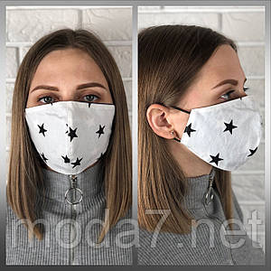 Защитная многоразовая маска 100% котон двухсторонняя