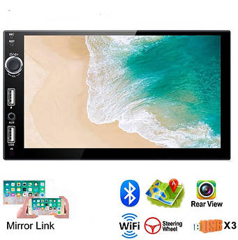 Автомагнитола Android 2Gb с GPS Wi-Fi 2Din магнитола 7021-2