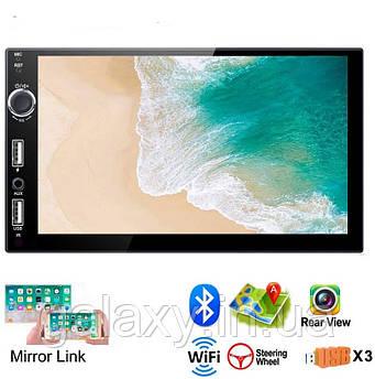 Магнитола Android 2Gb два дин GPS Wi-Fi 7021