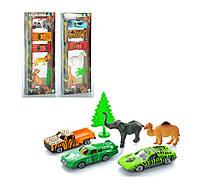 """Игровой набор машинок с животными """"Сафари"""" арт. 422927"""