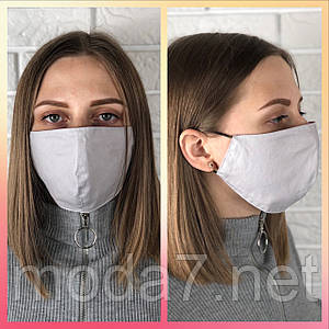 Защитная многоразовая маска двухсторонняя 100% котон