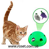 Игрушка для кошек - интерактивный игрушечный мяч Pop N' Play, фото 4