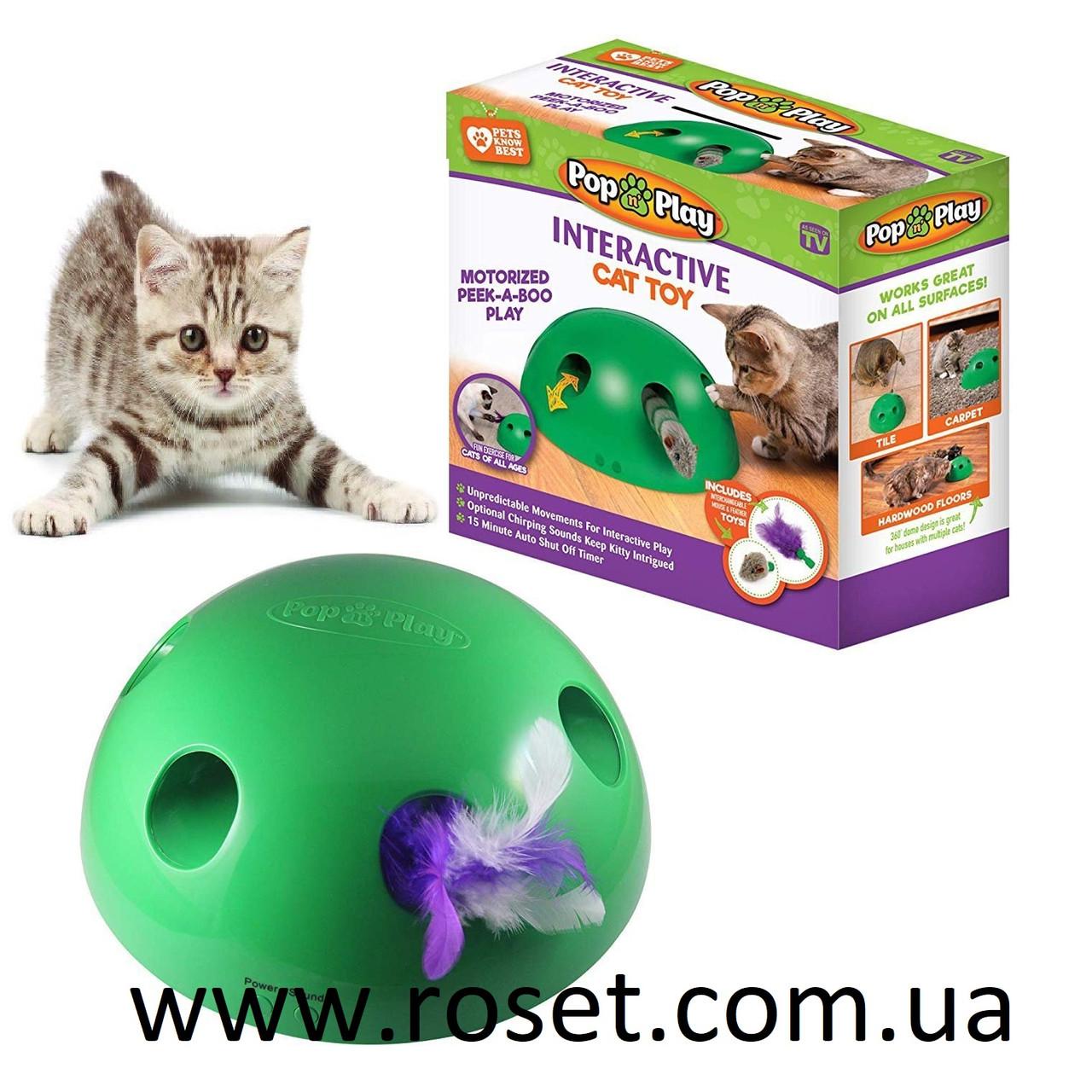 Игрушка для кошек - интерактивный игрушечный мяч Pop N' Play