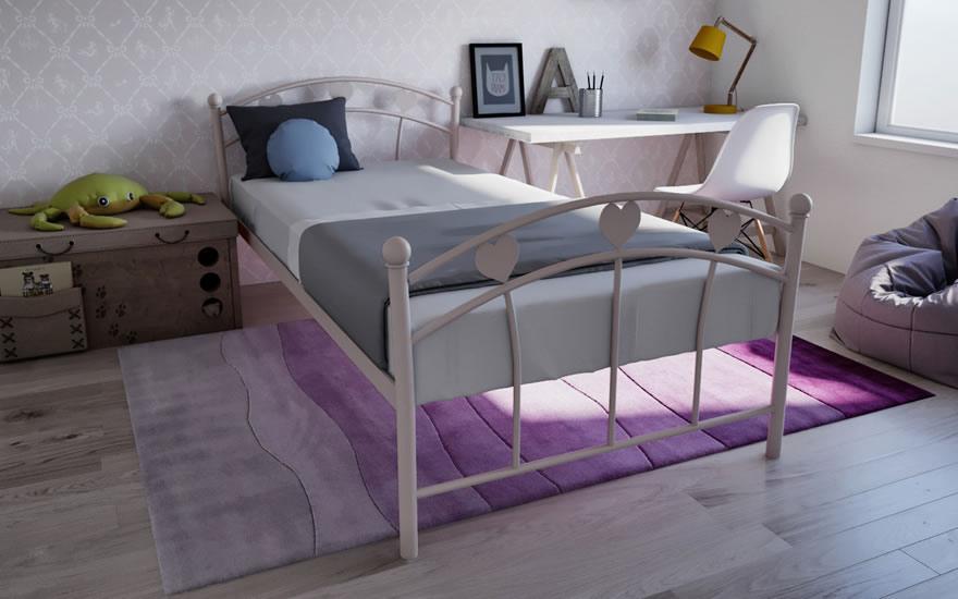 Кровать односпальная металлическая Принцесса TM Melbi