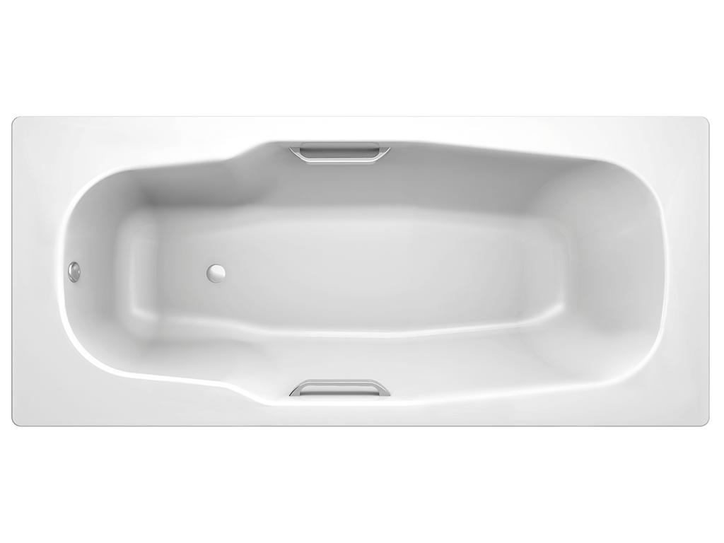 Ванная пристенная Koller Pool ATLANTICA стальная с антискользящим покрытием 3,5 мм