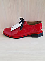 Красные лакированные кожаные балетки Ilvi. Турция
