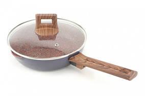 Сковорода с гранитным покрытием и крышкой A-PLUS Granite 1740 22 см