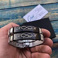 Оригинальный стальной браслет с индивидуальной гравировкой