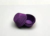 """Формочка бумажная для конфет """"Фиолетовая d 3 см h 1,5 см"""""""