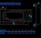 Ванная пристенная Koller Pool ATLANTICA стальная с антискользящим покрытием 3,5 мм, фото 4
